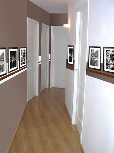 Conseil d co couloir for Idee couleur peinture couloir