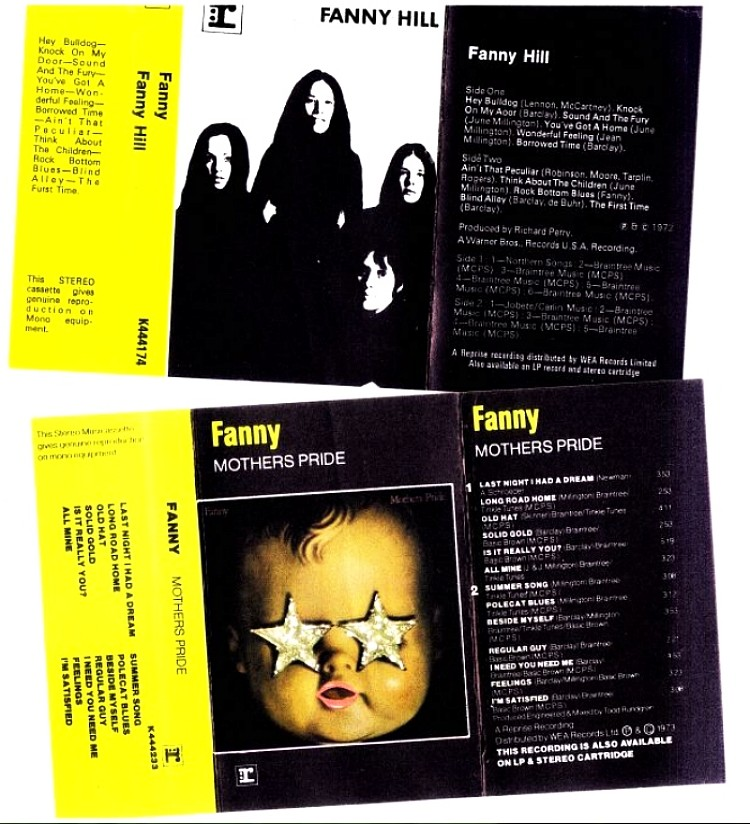 Fanny HIll, Mothers Pride Cassette Sleeves