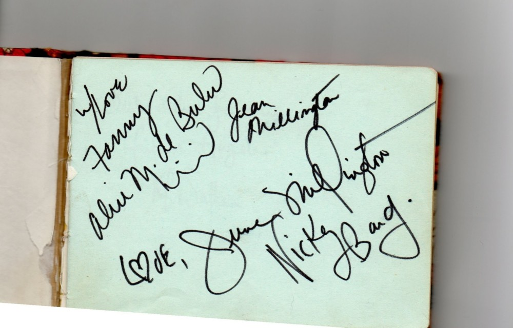 Fanny Autographs, Wolverhampton 1973