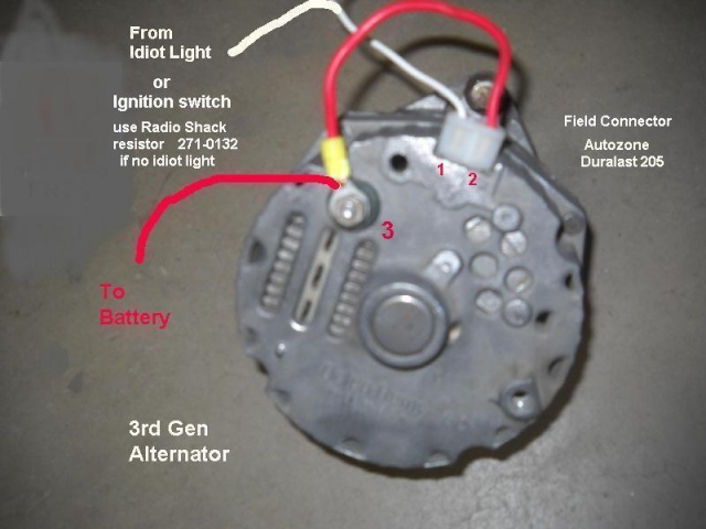 generator to alternator conversion acdelco one wire alternator wiring diagram ac delco 4 wire alternator wiring diagram