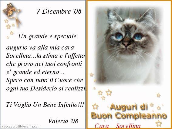 Top desikudiyaan: Auguri Di Buon Compleanno Per Mia Sorella VW87