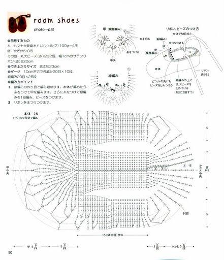 Схема вязания чешки крючком 73
