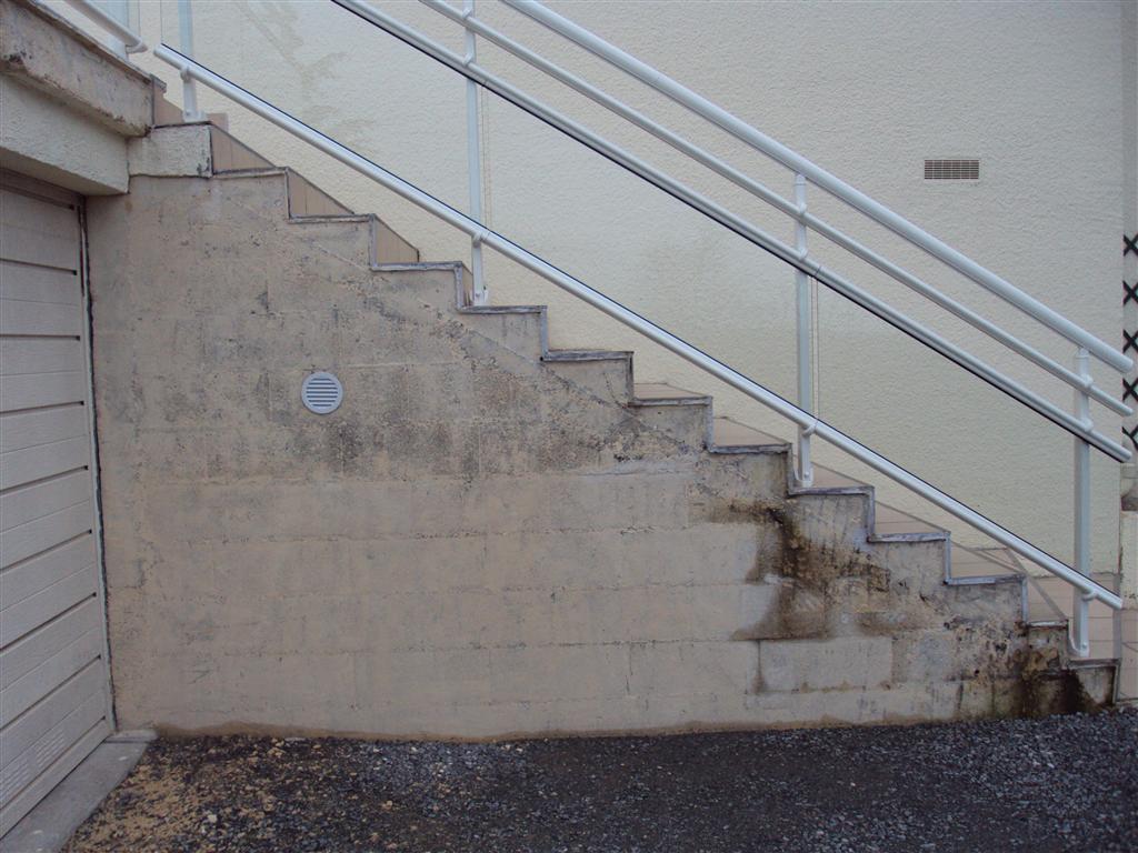 Bardage synth tique sous escalier b ton 5 messages - Bardage synthetique imitation bois ...
