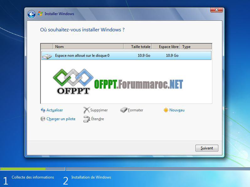 Comment installer microsoft windows 7 for Ouvrir fenetre dos windows 7