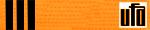 UFA Orange Belt 3stripes
