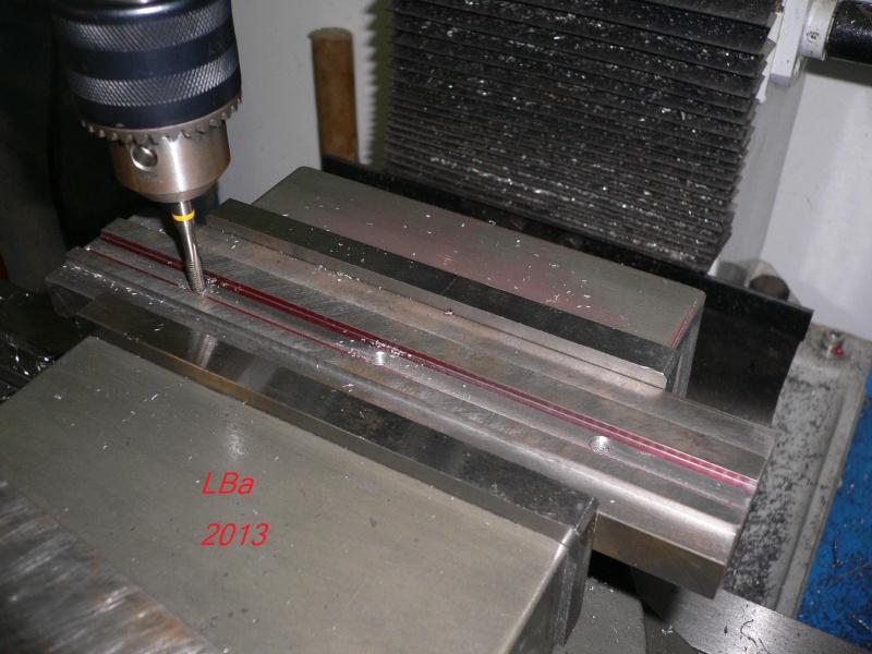 perçage/taraudage glissiére