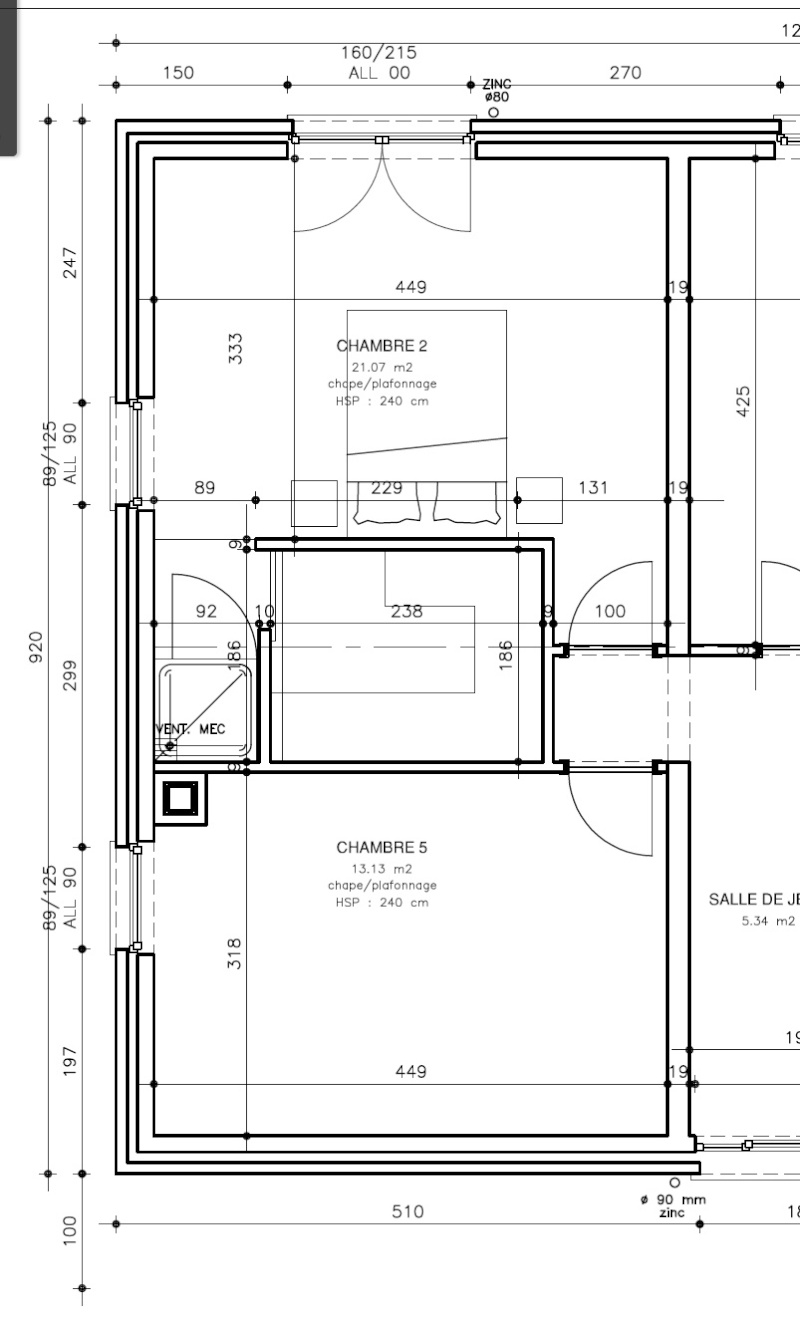 Suite parentale dans 21 m2 for Plan de suite parentale