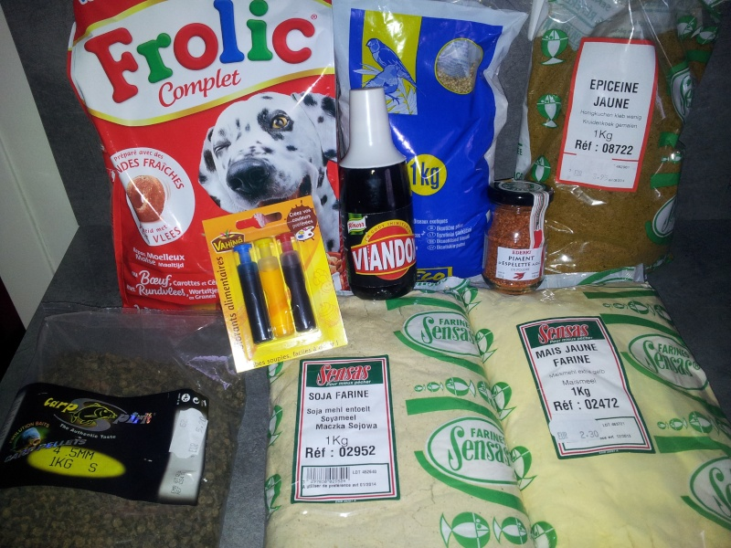 Recettes bouillettes perso for Amorce maison pour carpe