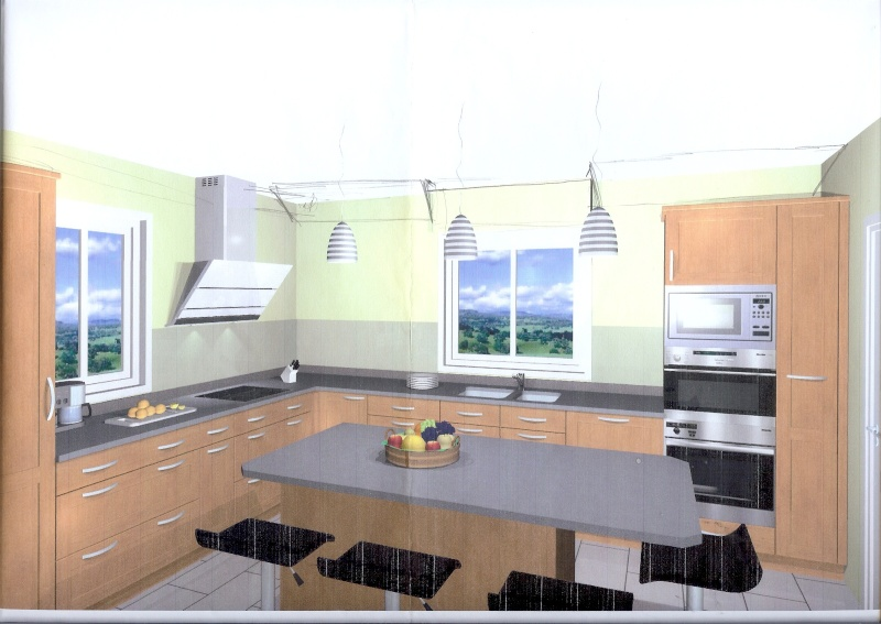 Quelle couleur aux murs pour notre cuisine - Couleur murs cuisine ...
