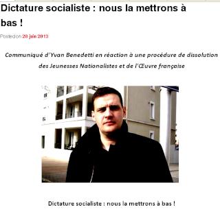"""Yvan Benedetti veut mettre à bas la """"dictature socialiste"""""""