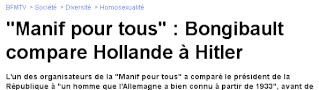 Manif pour tous : Bongibault compare Hollande à Hitler