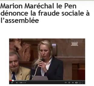 Marion Maréchal le Pen dénonce la fraude sociale à l'assemblée