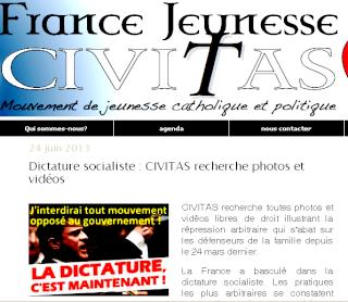 """Civitas parle de """"dictature"""""""