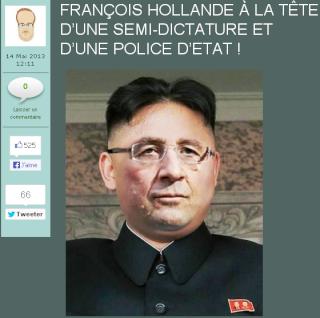 """Hollande mixé avec Mao, """"semi-dictature"""" et """"Etat policier"""""""