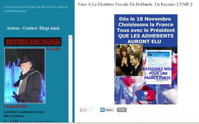 Cet élu UMP dénonce la dictature fiscale de Hollande