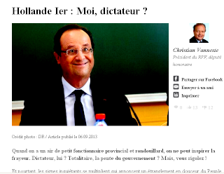 "Hollande ""dictateur"""